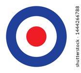 Mod target RAF roundel. Royal Air Force badge symbol. UK military seal. Non combat aircraft roundel.