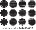grunge circles post stamps...   Shutterstock .eps vector #1444316492