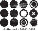 grunge circles post stamps... | Shutterstock .eps vector #1444316498