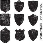 grunge shields stamps... | Shutterstock .eps vector #1444321922