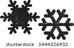 grunge snowflakes stamps... | Shutterstock .eps vector #1444326932
