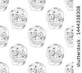 vector hand drawn seamless... | Shutterstock .eps vector #1444338308