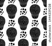 vector black and white hand... | Shutterstock .eps vector #1444339238
