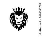 a lion animal logo template | Shutterstock .eps vector #1444340798