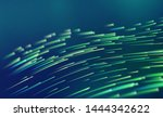 data flow wave. particle... | Shutterstock .eps vector #1444342622