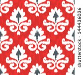 Red And Black Ikat Pattern ...