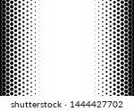 hexagon halftone pattern.... | Shutterstock .eps vector #1444427702