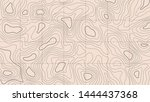 topographic map on a light... | Shutterstock .eps vector #1444437368