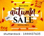 template of autumn sale web... | Shutterstock .eps vector #1444437635