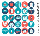 medical icon color set flat... | Shutterstock . vector #1444456922