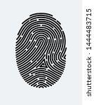 Fingerprint Icon. Cyber...