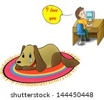 please take care of your little ... | Shutterstock .eps vector #144450448