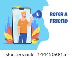 refer a friend. character with...