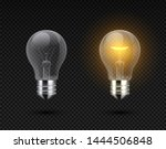realistic light bulb. glowing... | Shutterstock .eps vector #1444506848