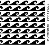 black and white seamless wave... | Shutterstock .eps vector #1444514378
