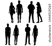 vector silhouettes of  men and... | Shutterstock .eps vector #1444519265