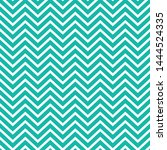 teal and white chevron seamless ... | Shutterstock .eps vector #1444524335