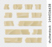 adhesive tape set. sticky paper ... | Shutterstock .eps vector #1444536638