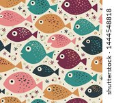 seamless vector pattern with... | Shutterstock .eps vector #1444548818