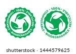 biodegradable and compostable... | Shutterstock .eps vector #1444579625