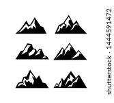 high mountain icon logo vector... | Shutterstock .eps vector #1444591472