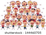 children choir singing vector... | Shutterstock .eps vector #144460705