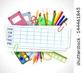 school timetable with... | Shutterstock .eps vector #144461845