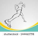 runner line art | Shutterstock .eps vector #144463798