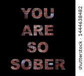 "Small photo of inscription ""You are so sober"" on a brick background"