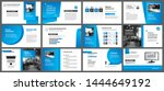 presentation and slide layout... | Shutterstock .eps vector #1444649192