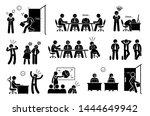 lazy useless millennials social ... | Shutterstock .eps vector #1444649942