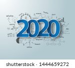 blue tags label 2020 text...   Shutterstock .eps vector #1444659272