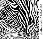 zebra vector texture | Shutterstock .eps vector #144466186