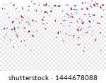 red and blue confetti isolated... | Shutterstock .eps vector #1444678088