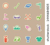 golf sport color sticker vector ...