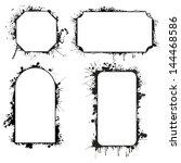grunge images frames  borders ... | Shutterstock .eps vector #144468586
