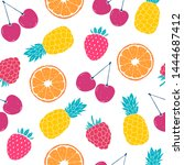 seamless pattern with colorful... | Shutterstock .eps vector #1444687412