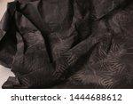 black creased crumpled paper... | Shutterstock . vector #1444688612