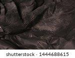 black creased crumpled paper... | Shutterstock . vector #1444688615