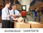 businessmen checking boxes with ...   Shutterstock . vector #144470476