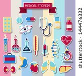 medical and health care icons... | Shutterstock .eps vector #144476332