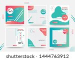 summer social media banner... | Shutterstock .eps vector #1444763912