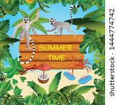 summer time holiday and travel...   Shutterstock .eps vector #1444774742
