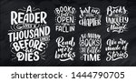 set with abstract lettering... | Shutterstock .eps vector #1444790705