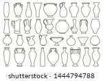 outline vases and amphora... | Shutterstock .eps vector #1444794788