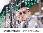 happy attractive man smiling...   Shutterstock . vector #1444798652