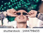 funny handsome man smiling with ...   Shutterstock . vector #1444798655