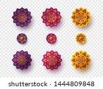 set of rangoli for diwali... | Shutterstock .eps vector #1444809848