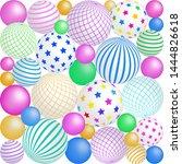 colorful balls 3d balls. vector ... | Shutterstock .eps vector #1444826618