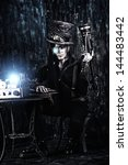 portrait of a steampunk man... | Shutterstock . vector #144483442